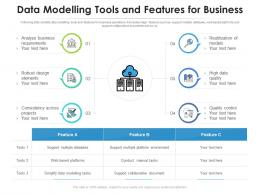 Data Modelling Tools And Features For Business