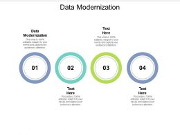 Data Modernization Ppt Powerpoint Presentation Layouts Outline Cpb