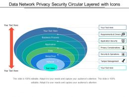 Data Network Privacy Security Circular Layered With Icons