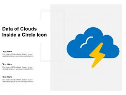 Data Of Clouds Inside A Circle Icon