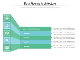 Data Pipeline Architecture Ppt Powerpoint Presentation Layouts Brochure Cpb