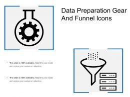 Data Preparation Gear And Funnel Icons