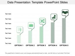 Data Presentation Template Powerpoint Slides