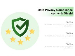 Data Privacy Compliance Icon With Shield