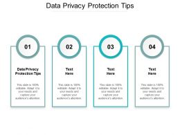 Data Privacy Protection Tips Ppt Powerpoint Presentation Professional Styles Cpb