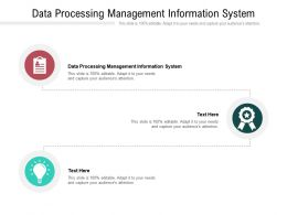 Data Processing Management Information System Ppt Powerpoint Presentation Model Cpb