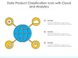 Data Product Classification Icon With Cloud And Analytics