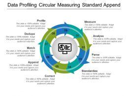Data Profiling Circular Measuring Standard Append