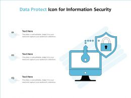Data Protect Icon For Information Security