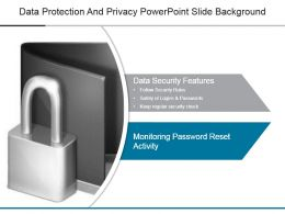 Data Protection And Privacy Powerpoint Slide Background