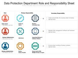 Data Protection Department Role And Responsibility Sheet