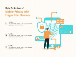 Data Protection Of Mobile Privacy With Finger Print Scanner
