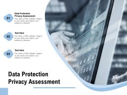 Data Protection Privacy Assessment Ppt Powerpoint Presentation Layouts Background Cpb