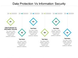 Data Protection Vs Information Security Ppt Inspiration Professional Cpb