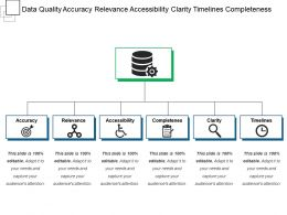 Data Quality Accuracy Relevance Accessibility Clarity Timelines Completeness