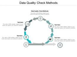 Data Quality Check Methods Ppt Powerpoint Presentation Portfolio Show Cpb