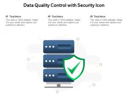 Data Quality Control With Security Icon