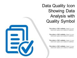 Data Quality Icon Showing Data Analysis With Quality Symbol