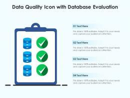 Data Quality Icon With Database Evaluation