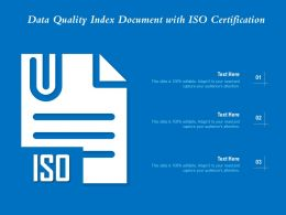 Data Quality Index Document With ISO Certification