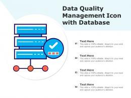 Data Quality Management Icon With Database