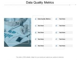 Data Quality Metrics Ppt Powerpoint Presentation File Slide Cpb