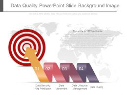 Data Quality Power Point Slide Background Image