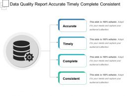 Data Quality Report Accurate Timely Complete Consistent