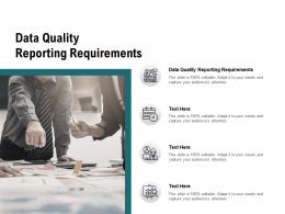 Data Quality Reporting Requirements Ppt Powerpoint Summary Maker Cpb