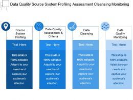 Data Quality Source System Profiling Assessment Cleansing Monitoring