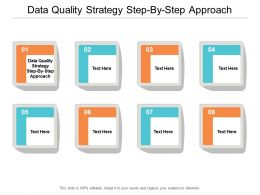 Data Quality Strategy Step By Step Approach Ppt Powerpoint Presentation Styles Aids Cpb