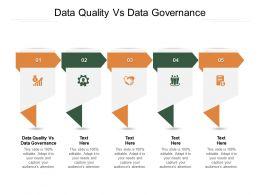 Data Quality Vs Data Governance Ppt Powerpoint Presentation Inspiration Background Cpb