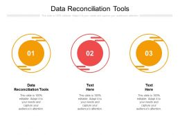 Data Reconciliation Tools Ppt Powerpoint Presentation Portfolio Files Cpb