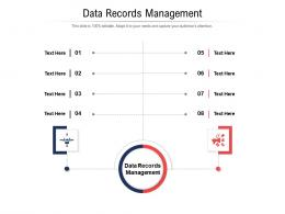 Data Records Management Ppt Powerpoint Presentation Professional Show Cpb