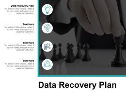Data Recovery Plan Ppt Powerpoint Presentation Show Deck Cpb