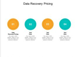 Data Recovery Pricing Ppt Powerpoint Presentation Icon Graphics Download Cpb