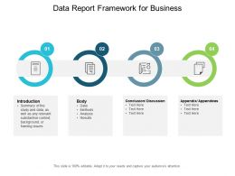 Data Report Framework For Business