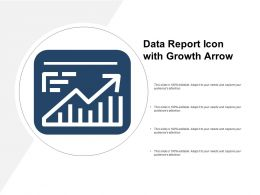 Data Report Icon With Growth Arrow