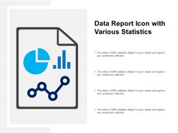 Data Report Icon With Various Statistics