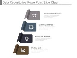 Data Repositories Powerpoint Slide Clipart
