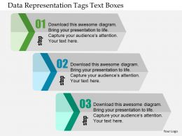 Data Representation Tags Text Boxes Flat Powerpoint Design