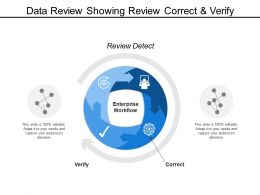 Data Review Showing Review Correct And Verify