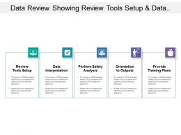 Data Review Showing Review Tools Setup And Data Interpretation
