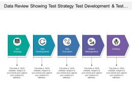 Data Review Showing Test Strategy Test Development And Test Execution