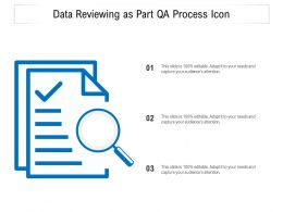 Data Reviewing As Part QA Process Icon