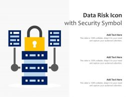 Data Risk Icon With Security Symbol