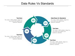 Data Rules Vs Standards Ppt Powerpoint Presentation Professional Deck Cpb