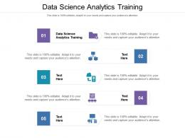 Data Science Analytics Training Ppt Powerpoint Presentation Gallery Infographics Cpb