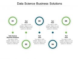Data Science Business Solutions Ppt Powerpoint Presentation Icon Graphics Example Cpb