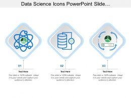 Data Science Icons Powerpoint Slide Background Designs